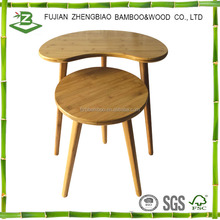 Bamboo made round dining table set bamboo homeware