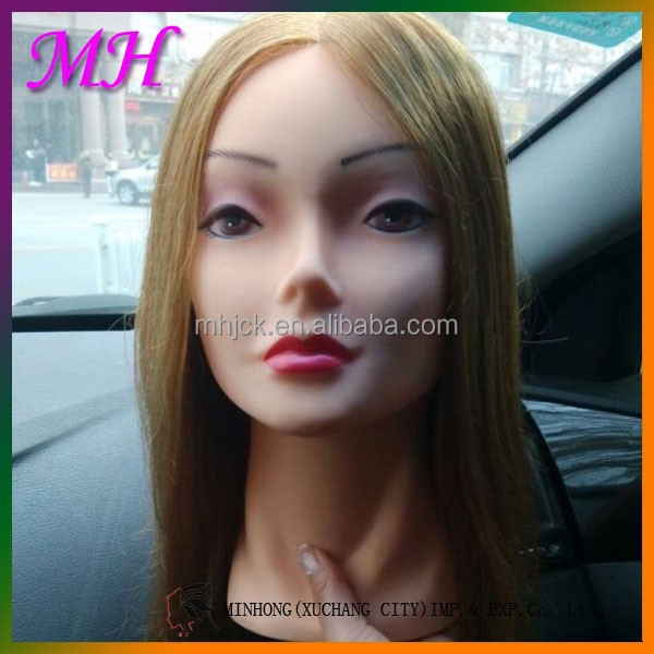 Wholesale Human Hair Mannequin Head with Training Wig