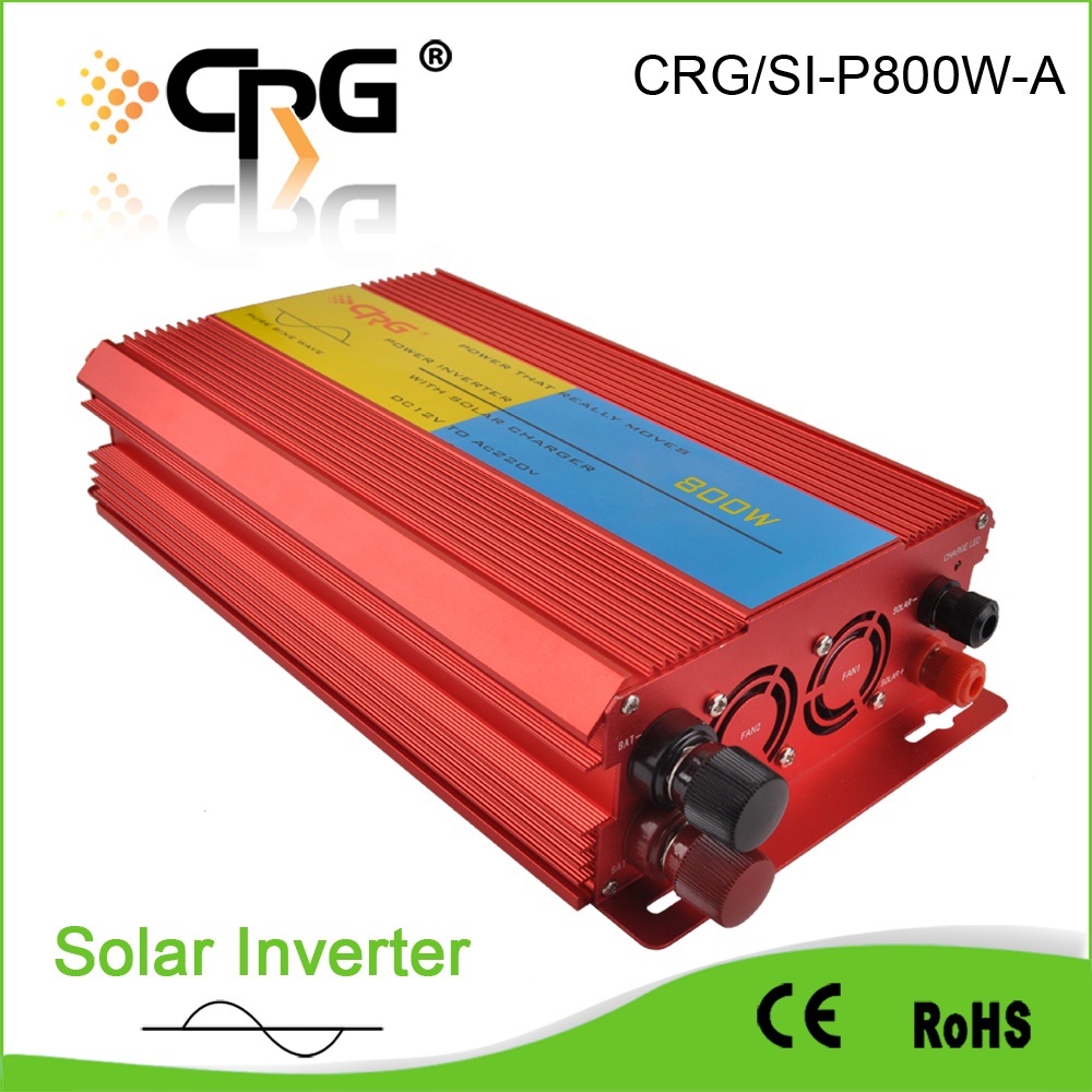 Competitive Price off grid 800W dc to ac pure sine wave solar inverter 3 phase with built-in charge controller