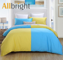 ALLBRIGHT young and fashion patchwork bedsheets duvet set from shaoxing textile market
