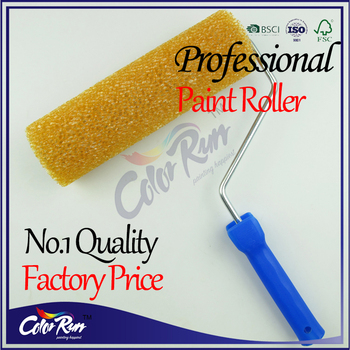 ColorRun 9 inch Standard Density Painting Sponge Paint Roller Brushes Textured Roller
