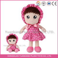 Newest 2015 soft stuffed plush toy doll with lovely face