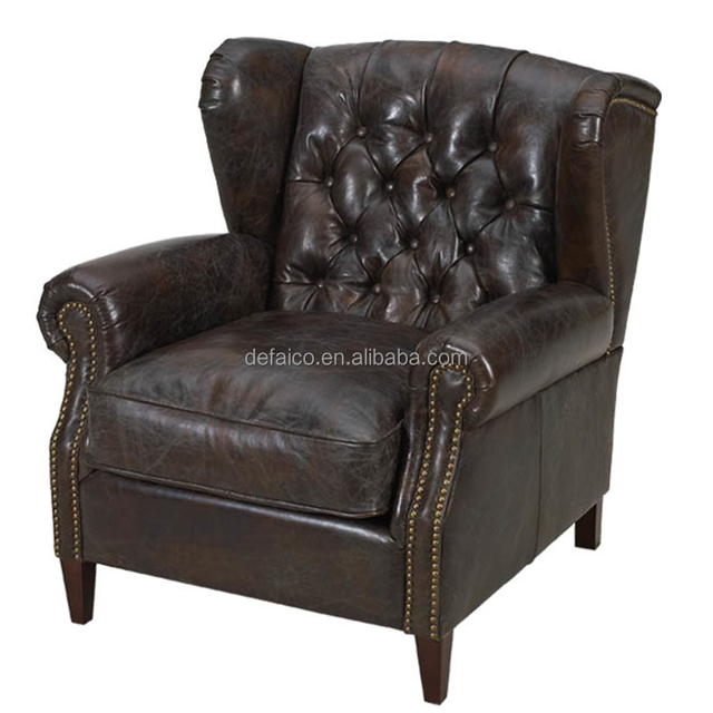 Antique and Vintage Leather Chesterfields Wingback Chair