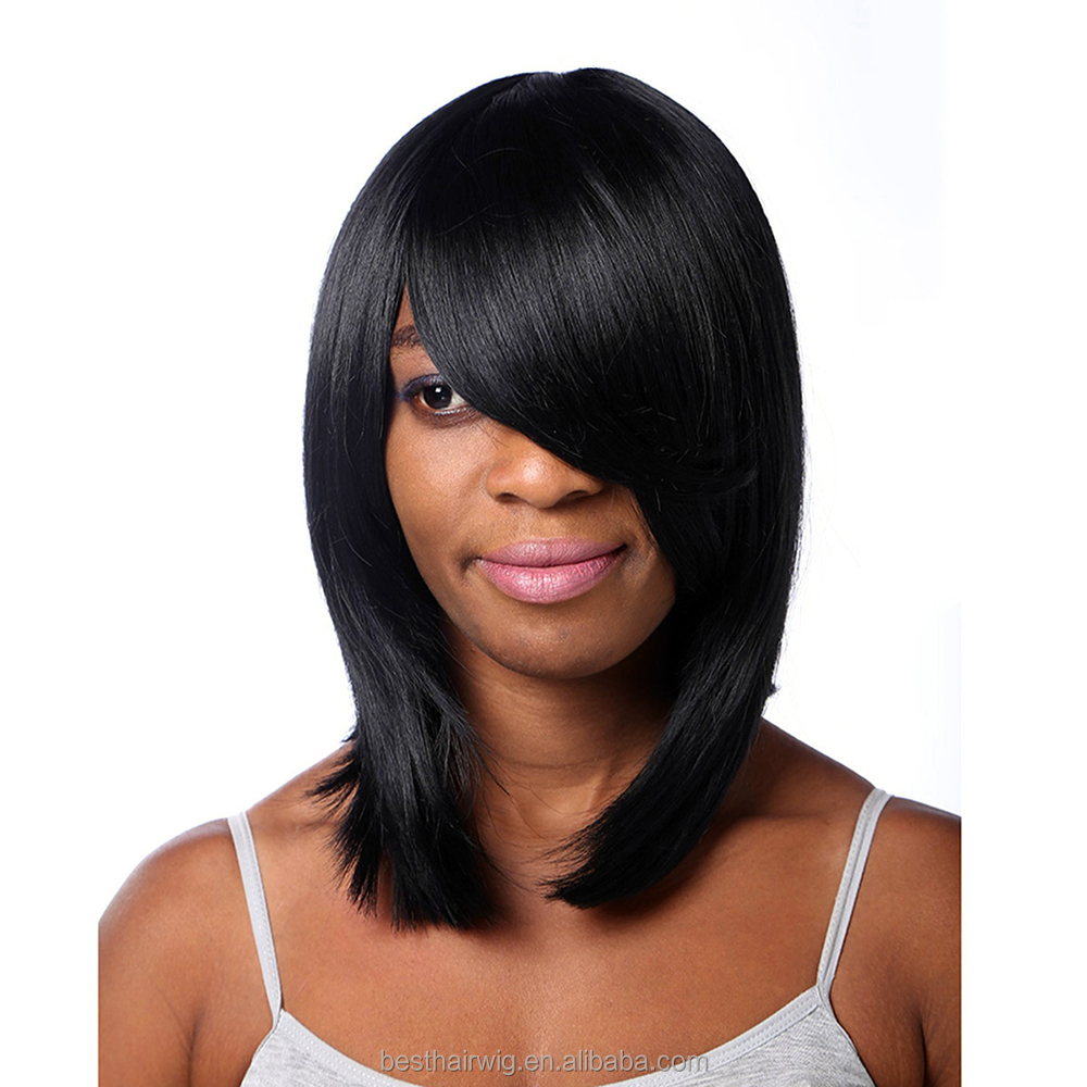 hair wig halloween/party/Christmas/make up short bob hair wig with natural black color