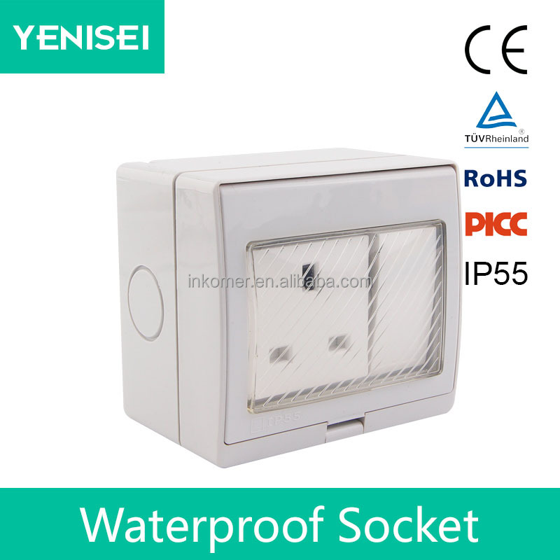 13 amp switched 1 gang 1 way 2 way uk british ac connect electrical switch socket