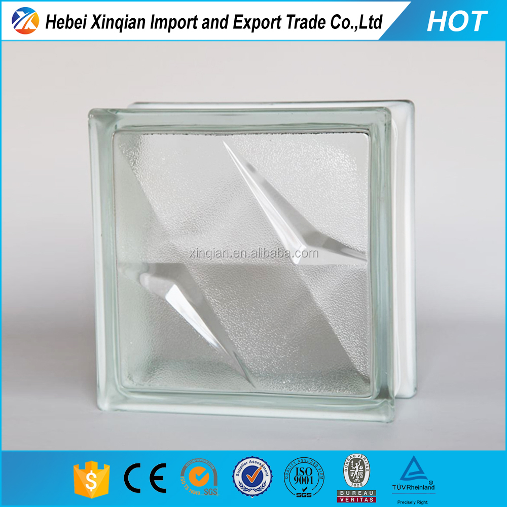 high quality led glass brick block clear and colored