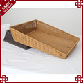 Daily use cheap price rattan fruit vegetable basket display bread racks