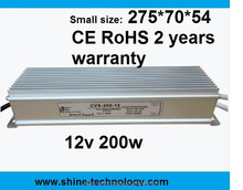 constant voltage 200W 12V 24V led supply high power, waterproof power supply 12v ip 67 ip 68