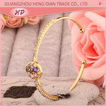 2015 new design fashion indian cheap wholesale 18k rose gold plated women brass bracelets bangles jewelry