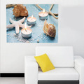 Starfish LED Candle Light Canvas Painting for Living Room /Hotel /Bar Wall Decoration