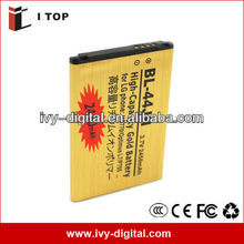 Cell phone Gold Battery for LG BL-44JH/Optimus L7/P705 ,2450mAh