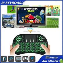 Cheapest 3 Color in 1 Backlight Gaming Keyboard 2.4G RII i8 Wireless mini Keyboard for Android