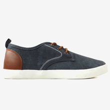 cheap stylish light and black canvas shoes
