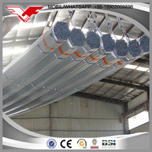 ERW 19mm galvanized round mild steel pipe