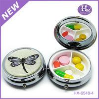 New Product Round Dragonfly Metal Chinese Diet Pills Green Box
