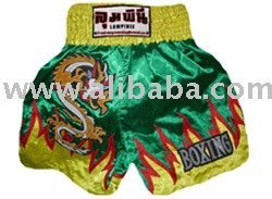 Muay Thai Shorts (Green-Yellow)