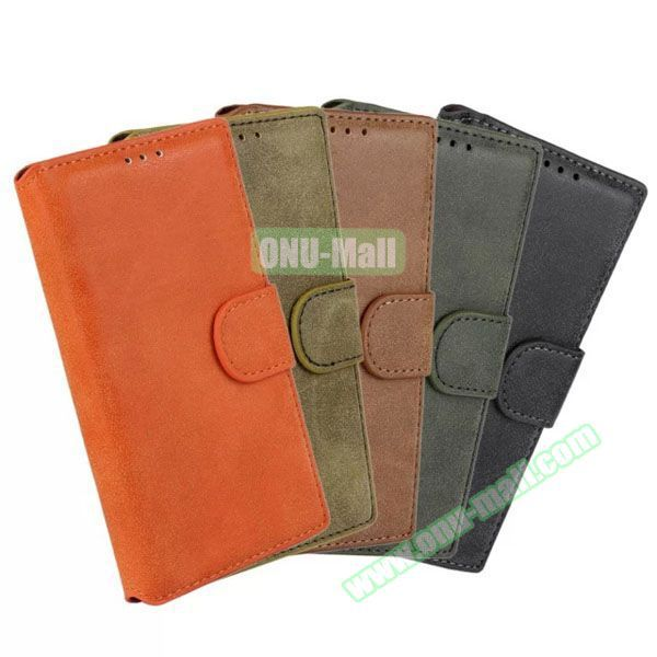 Frosted Wallet Style Phone Leather Flip Back Cover Case for Nokia Lumia 730