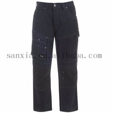 navy cargo pants/High Quality Cotton Work trousers,cargo pants/workwear/sn