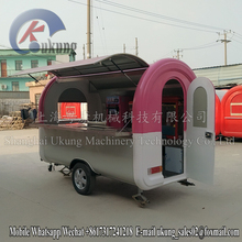 China Supplier Mobile Food Cart/Fruit Juice Cart Trailer/ Burger Cart With Wheels With Ce Approved
