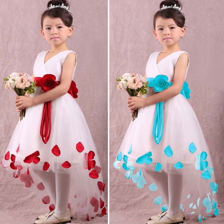 C71116A new fashion baby girls gorgeous party wear dress kids birthday dress for kids wedding dress