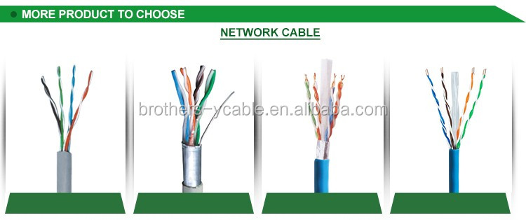 High Speed 23AWG soild Copper cat6 utp lan cable