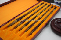 5pcs Pure Wolf Hair Chinese Calligraphy Painting Sumi Drawing Brush