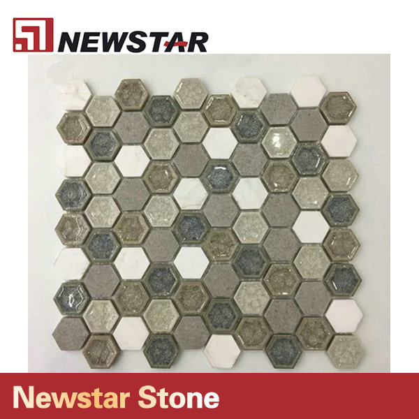 Newstar Hegagon Tiles For Kitchen Design Family Decoration Mosaic
