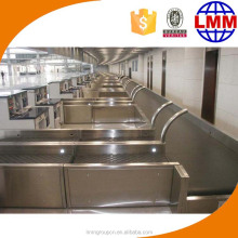Airport passenger luggage departure belt conveyor