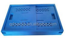plastic collapsible colorful storage box/plastic durable basket/ cheap multipurpose plastic folded box