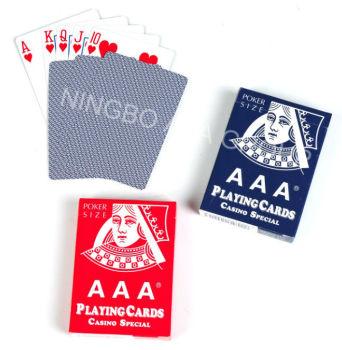 Hot high quality paper casino playing card