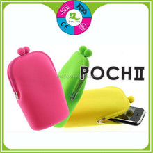 Waterproof Silicone Snap Closure Mobile Phone Pouch
