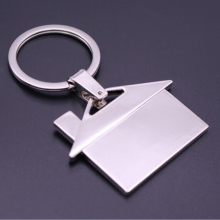 Wholesale house shaped key chains/ metal Keychains