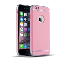 Shockproof PC Full Rubber Back Cover for iPhone 6 Fashion Pure Color Hard Case for iPhone 6s 4.7 MT-5499