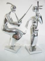 DS00010dd musician metal dance statue for home decoration art accessory