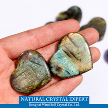 wholesale Natural Labradorite Crystal heart-shaped Pendant polished flashy natural labradorite Pendant