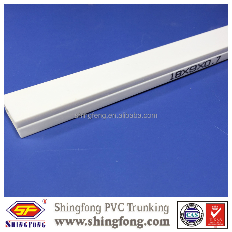 Hot Sale ISO Standard UPVC Plastic Channel Manufactured Trunks/ Cable Raceway with High Pressure