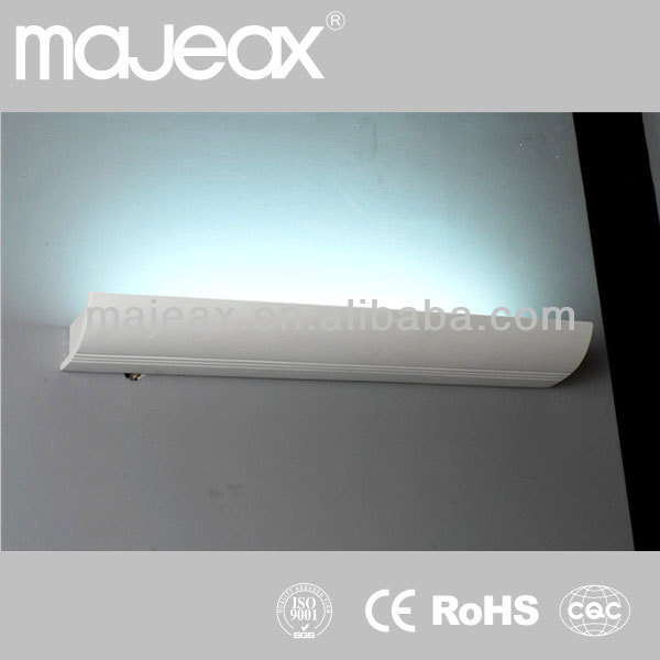 Decorative White Gypsum Plaster 8W fluoresecent wall sconce