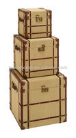 Hot Sell New Cheap Vintage Old Wood Linen Trunk Burlap Rattan Storage Trunk