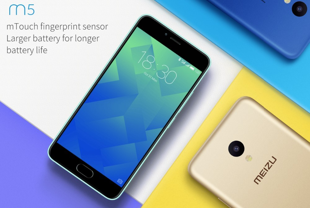 "Original Meizu M5 4G LTE Mobile Phone 2.5D Glass MT6750 Octa Core 5.2"" 2GB RAM 16GB ROM 13MP 4G LTE Fingerprint"