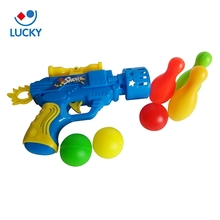 Personalized children gift set plastic bullets toy ping pong ball shooting gun