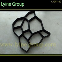 PP material interlocking pavement mold for Irregular pebbles pavers for making pathway for your garden