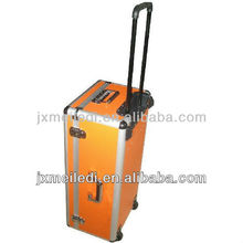 Functional grooming portable high quality Aluminum box tools case tool kit trolley case baritone cases