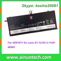 laptop battery for Lenovo X1 laptop 45N1071 14.8V 3.11AH 46WH rechargeable lithium battery