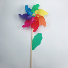 Chinese product custom garden party wedding decoration kids toy plastic wooden windmill