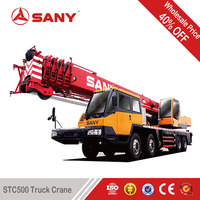 SANY STC500 50 Tons 2010 Year Second Hand Truck Crane Used Truck Mounted Crane with EURO III