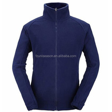 Man Plain Navy Fleece Jackets