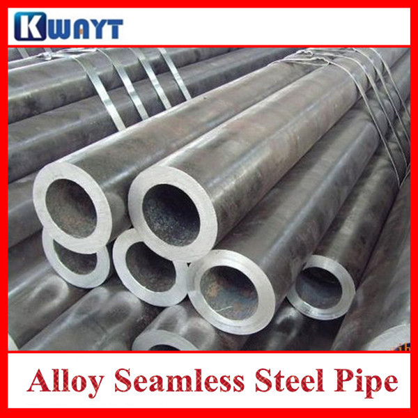 Seamless alloy steel tube for construction material