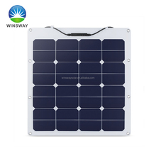 Light 18-150 watt semi flexible solar panel kit for camping and cabins