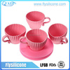 Tea Cup Cakes Silicone Baking Cups Hygiene Silicone Cupcake maker