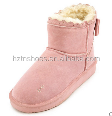 Girls Winter Warm Nice Footwear Boots Shoes Cheap Cute Bow Child Boot